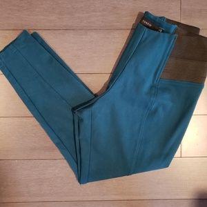 Torrid Teal Skinny Ankle Dress Pants